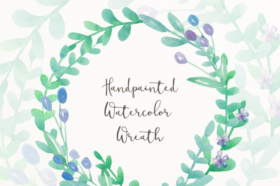 Watercolor wreath clip art