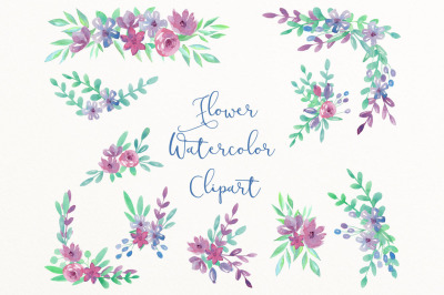 Wedding clipart watercolor