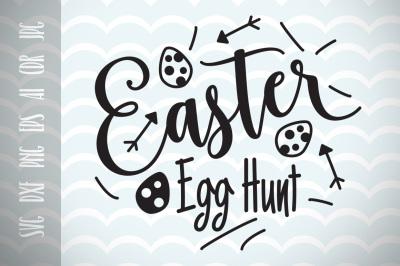Easter Egg Hunt SVG Vector File, Happy Easter, Trendy SVG File, Vector