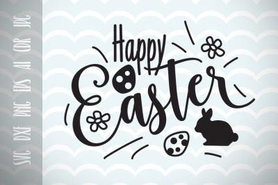 Happy Easter SVG Vector File, Easter Greetings, Trendy SVG File