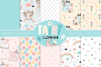 Fairy elephant pattern kit