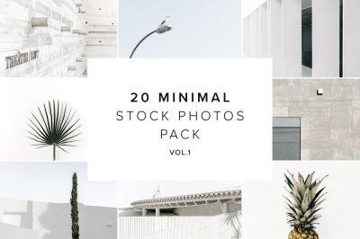 20 Stock Photo Minimal Pack vol.1