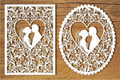 Wedding cards SVG files for Silhouette Cameo and Cricut.
