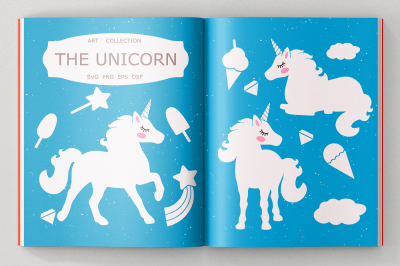 Unicorn SVG cut files, Clipart, Illustration