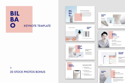 Bilbao - Keynote Template + 20 Photos Bonus