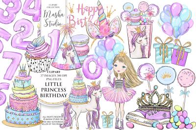 LITTLE PRINCESS BIRTHDAY clipart