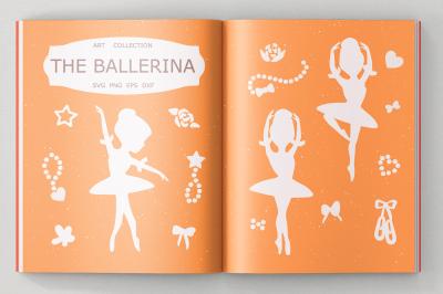 Ballerina svg cut file, clipart, illustration