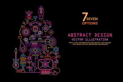 7 options of Abstract Art Design