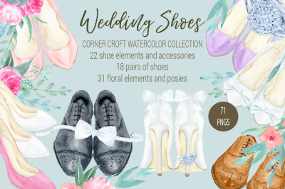Watercolor Collection wedding shoes