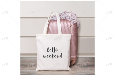 Weekend Bag Mockup. JPEG