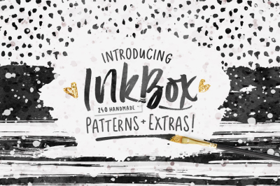InkBox - 240 Seamless Inky Patterns + Extras!