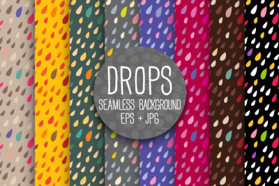 Bright DROPS. Seamless background.