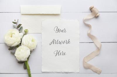 Wedding Paper Mockup
