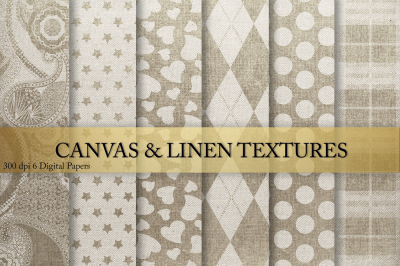 Canvas & Linen Digital Paper