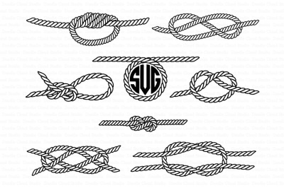 Nautical Knots SVG, Sea Knots files for Silhouette Cameo and Cricut.
