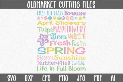 Spring Subway Art SVG Cut File - Easter - SVG - DXF - PNG - JPEG -