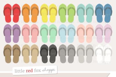 Pedicure Flip Flops Clipart