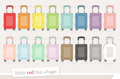 Rolling Luggage Clipart