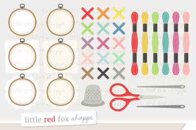 Embroidery Kit Clipart