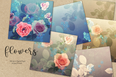 Flowers & Digital Paper