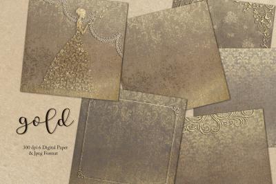 Gold & Textures Digital Paper