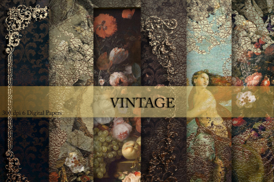 Vintage Flowers ang Gold Textures