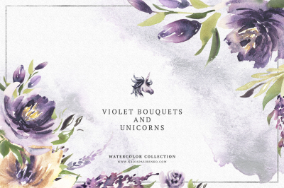 Violet Bouquets & Unicorns