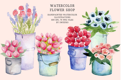 Flower Shop clipart, mother's day bouquets
