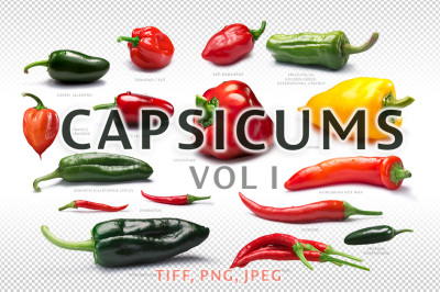Set of Capsicums