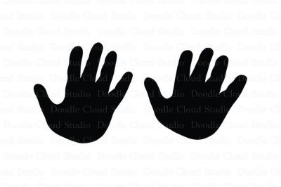 Child & Adult Hands SVG files for Silhouette Cameo and Cricut.