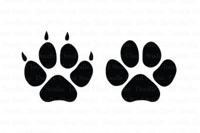 Pet Paw SVG Files, Dog svg Files, Cat svg Files for Silhouette Cameo