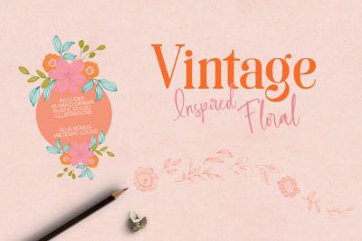 Vintage Floral Elements & Logos