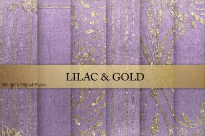 Gold & Lilac Digital Paper