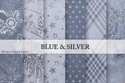 Blue & SilverDigital Paper