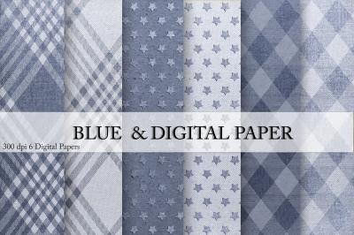 Canvas & Blue Digital Paper
