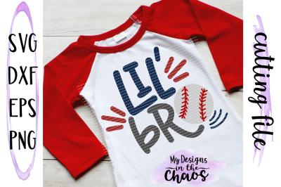 Lil Bro Baseball SVG   Baseball Brother SVG   Little Brother Baseball