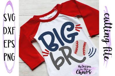 Big Bro Baseball SVG | Big Brother Baseball SVG | Brother SVG