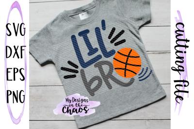 Lil Bro Basketball SVG | Basketball SVG | Sports SVG | Brother