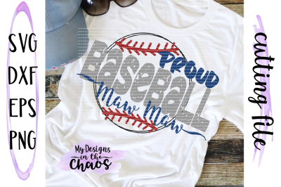Baseball SVG | Baseball Mom SVG | Baseball Grandma SVG | Cutting File