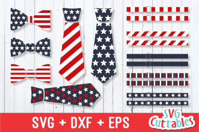 Fourth of July Ties