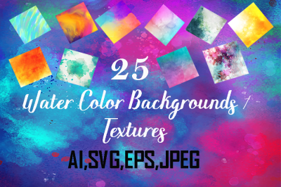 Watercolor backgrounds,textures