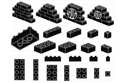 Lego SVG, Building Blocks SVG, Lego Bricks svg, Lego Monogram svg