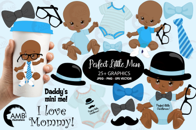 Little Man clipart, graphics Baby clipart, AMB-1815