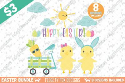Cute Easter SVG Bundle, Dxf Cutting file for cameo and cricut