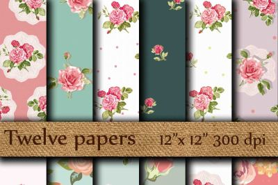 Floral Digital Papers