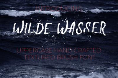 Wilde Wasser - Textured Brush Font