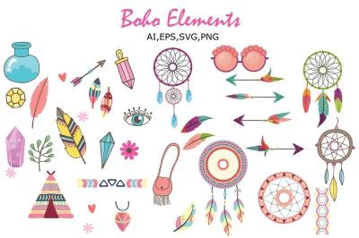 Boho elements