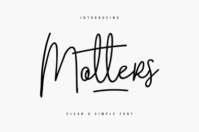 Motters Typeface