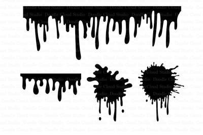 Liquid Paint svg, Dripping Paint svg, Paint Stains svg