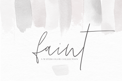Watercolor Textures and Brushstrokes - Faint